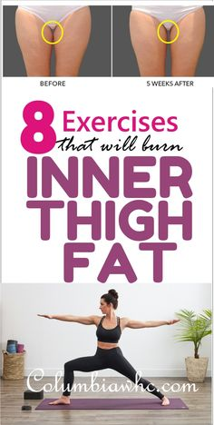 How To tone Inner thigh: Inner thigh can be hard to target and also easily overlooked in a typical workout routine. Learn the 8 Simple exercises to burn inner thigh Fat, Leg Fat fast Quick Weight Loss Tips, Weight Loss Help, Need To Lose Weight, Reduce Weight, Losing Weight, Weight Lifting, Reduce Cellulite, Cellulite Wrap, Easy Workouts