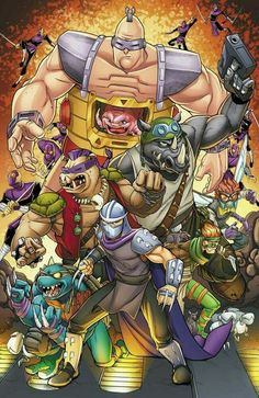 Great colors and composition for this collection of great Ninja Turtle Villains - TMNT - The Original Ninja Turtles Art, Teenage Mutant Ninja Turtles, Gi Joe, Classic Cartoons, The Villain, Anime Comics, Caricatures, Mystery, Batman