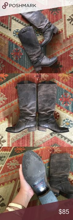 """Charles David riding boots These gorgeous leather Charles David riding boots are perfect for everyday wear! They are used, so there is a worn in look to them, but I actually think that adds to the rustic appeal. They would be very cute under a breezy summer dress or of course over some skinny jeans with a sweater. The back runs 15.5"""" from the top of the boot to the bottom of the heel. Charles David Shoes"""
