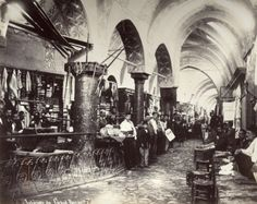 The Grand Bazaar in Istanbul is one of the largest and oldest covered markets in the world, with 61 covered streets and over shops which attract Vintage Photographs, Vintage Photos, Grand Bazar, Grand Bazaar Istanbul, Asia, Photographic Studio, Historical Pictures, Istanbul Turkey, Arquitetura