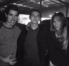 Henry Zaga, Michael Johnston and Kelsey Chow on the set of Teen Wolf!