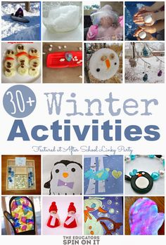 The Educators' Spin On It: Winter Activities for School Ages {Link Up}