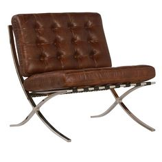 Barcelona Antiqued Brown Leather Lounge Chair - June 15 2019 at Ercol Dining Chairs, Industrial Dining Chairs, Cafe Chairs, Living Room Chairs, Lounge Chairs, Living Rooms, Living Spaces, Brown Leather Chairs, Leather Lounge