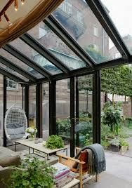 Ett Hem, Stockholm | Conservatory, Stockholm, Indoor Outdoor, Winter Garden, Greenhouses, Green Houses, Inside Outside, Glass House