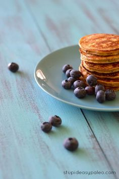 Plantain Protein Pancakes | stupideasypaleo.com