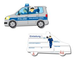 Die Einladungen Polizei sind die perfekten Einladungen für eine Polizei Kindergeburtstagsfeier. Ihr findet die Karten bei www.party-princess.de