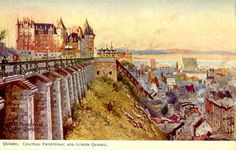 Old Postcard, Canada, Quebec, Chateau Frontenac