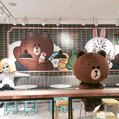 Find images and videos about cute, food and friends on We Heart It - the app to get lost in what you love. Cony Brown, Brown Bear, Brown Aesthetic, Retro Aesthetic, Cute Ducklings, Kakao Friends, Brown Line, Theme Background, Line Friends