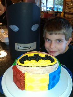 Lego Batman cake and my hunny jack