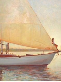 Brent Lynch Shimmering Moment painting for sale - Brent Lynch Shimmering Moment is handmade art reproduction; You can shop Brent Lynch Shimmering Moment painting on canvas or frame. All Nature, Foto Art, Sail Away, Set Sail, Am Meer, Oh The Places You'll Go, Adventure Time, Wanderlust, Cruise