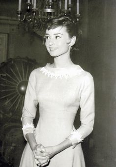 Audrey Hepburn on the set of 'War and Peace' 1956