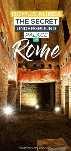 Domus Aurea in Rome Secret Underground Palace Italy Travel Tips, Rome Travel, Travel Destinations, Travel Tours, Travel Europe, Travel Guide, Things To Do In Italy, Going On Holiday, Visit Italy