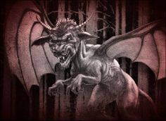 Jersey Devil - The most accepted origin of the story as far as New Jerseyians are concerned started with Mother Leeds: It was said that Mother Leeds had 12 children and after giving birth to her 12th child she stated that if she had another it would be the Devil. In 1735, Mother Leeds was in labor on a stormy night. Gathered around her were her friends. Mother Leeds was supposedly a witch and the child's father was the Devil himself. The child was born normal, but then changed form.