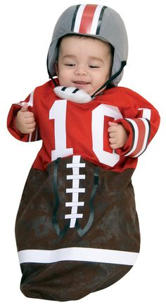 could make a football sleeper outfit for baby aj, too, so he's nice and warm