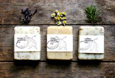Handmade Soap, soap gift set, organic ingredients, three large bars of cold process soap, lightly scented, homemade soap, all natural soap