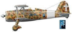 Fiat CR.42 (serial number MM4462), which is from October 1940 to the beginning of 1941 he was the personal aircraft commander of the 18th group of major Ferruccio Vozilla (Ferruccio Vosilla).