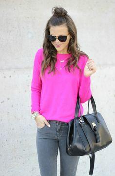 Pink V Neck Cold Shoulder Ripped Sweater Dress | Cold shoulder