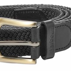Inspired by years of menswear heritage, this webbed belt from Barbour is secured classically with a robust metal buckle. Trimmed with durable touches of leather, the charcoal accessory is signed off with debossed branding that roots in firmly to the world of British design.