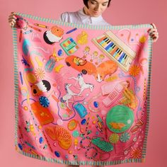 Karen Mabon 'Bedroom Floor' silk scarf