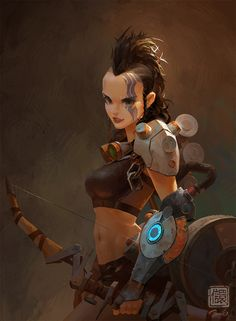 ArtStation-Lucia Illustration, Kan Liu 信 譞)-sekigan , Female Character Design, Character Design References, Character Design Inspiration, Character Concept, Character Art, Concept Art, Game Concept, Comic Kunst, Comic Art