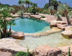 Natural swimming pool- this would look great in my backyard amongst the cactus!