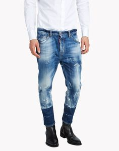 Dsquared2 Dan Elastic Waist Jeans http://www.99wtf.net/category/young-style/urban-style/