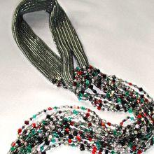 Бронзовый шарф. Анна Брагинская — украшения из бисера
