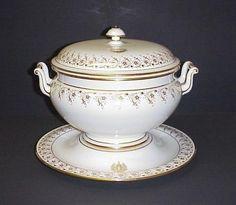 Antique Sevres French Porcelain Covered Soup Tureen Base 3 PC Set C 1891 | eBay
