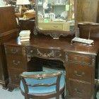 1920′s Vanity Desk with Mirror