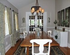 he large four-bedroom, two-and-a-half-bathroom home has a living room with a full wall of built-ins, new lighting, newly stained floors and fireplace with new brick hearth. The kitchen features reclaimed hemlock floors and the dining room has new custom-carved molding and double French doors leading to the family room. The grounds are also well maintained and surrounded by a conservation area, which assures protected views. Listed for $1.399 million by Elyse Harney Real Estate.