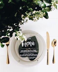Translucent wedding menu for the modern couple #modernwedding #weddingmenu