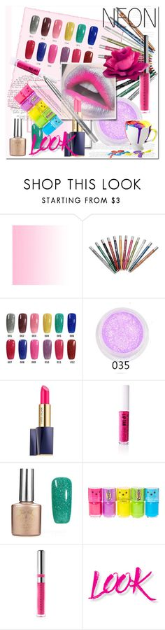 """neon beauty"" by ilona-828 ❤ liked on Polyvore featuring beauty, INC International Concepts, MAC Cosmetics, Estée Lauder, Obsessive Compulsive Cosmetics, claire's, Chantecaille, NYX and neonbeauty"