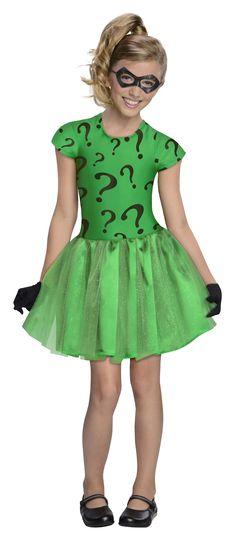 Riddler Super Villian Girls Tutu Halloween Costume | $44.99 | The Costume Land