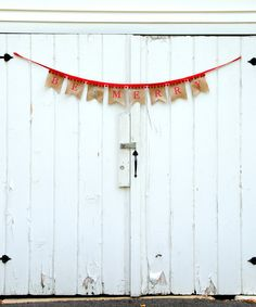 Do --- Look at this Life Scooped 'Be Merry' Burlap Swallow Tail Pennant Banner on #zulily today!