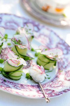 agurker m rygeost 1 Cucumber, Cheese, Meat, Vegetables, Party, Recipes, Food, Essen, Eten