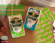 ez start tape products I love... have had fun this xmas with this wrapping paper alternative @Duck Brand