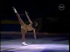 Michelle Kwan skates in 2002 to Eva Cassidy's cover of Sting's Fields of Gold