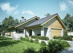 Ibis II - zdjęcie 1 House Plans Mansion, Modern Barn House, Architect House, Atrium, Home Fashion, Exterior Design, Planer, Bungalow, House Design