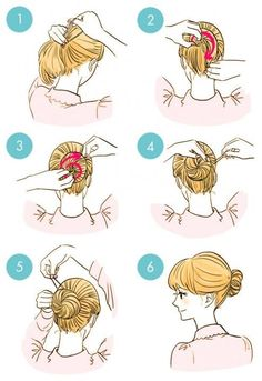 DIY tutorials on how to style your hair in 3 minutes. Quick and easy hairstyles. Techniques to style your hair and look elegant in no time. Cute Quick Hairstyles, Bun Hairstyles, Wedding Hairstyles, New Hair, Your Hair, Curly Hair Styles, Natural Hair Styles, Hair Lengths, Hair Hacks