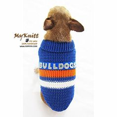 Bulldogs Football Team Dog Jerseys NFL AFL Super Bowl Pet Clothes Australian Football Club Puppy Sweater Chihuahua Clothing Handmade Crochet Dk933 Myknitt - Free Shipping ** Stop everything and read more details here! : Dog sweaters