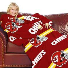 Kansas City Chiefs Red Striped Comfy Throw
