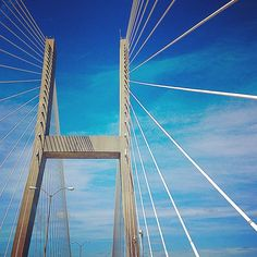 Crossing the #SavannahRiver #TalmadgeMemorialBridge #SouthEastCoast #roadtrip #vacationmode #Savannah #Georgia #intrepidtraveler