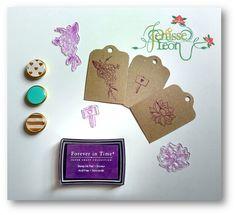 Nuestro taller se renueva con estos hermosos #Sellos para ofrecer nuevas creaciones #HandMade #Custom #Stamps #Violet #Purple #Tags #New #JenisseLeón