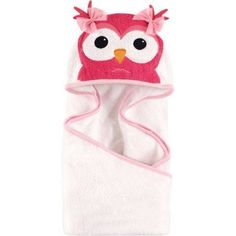 Hudson Baby Unisex Baby Cotton Animal Face Hooded Towel, Cutesy Owl, One Size Baby Bamboo, Purple Owl, Pink Bow Tie, Hooded Bath Towels, Baby Towel, Gift Bows, Baby Head, Cute Owl, Amigurumi