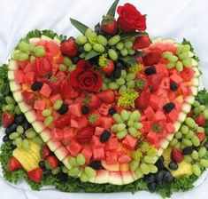Watermelon heart fruit display