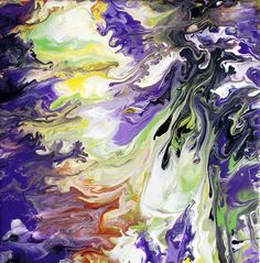 Abstract fluid painting By Mark Chadwick