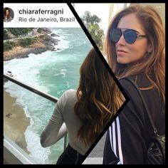 Olha quem está no Brasil!! A Blogguer italiana #chiaraferragni mostrando todo seu estilo no #rio  #TheBlondeSaladGoesToBrazil #oticaswanny #dior #diortechnologic