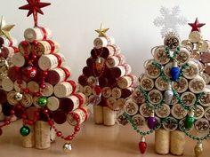 Wine cork Christmas Tree.....Upcycled Cork Christmas