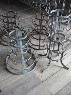 Bottle Drying racks. Need something like this for Willow for drying vases