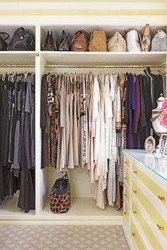 closet, i like the extra top shelf for bags, etc